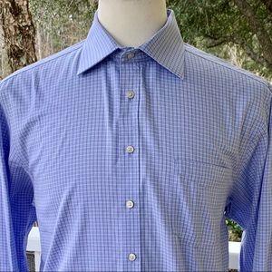 Thomas Pink Traveller Slim Fit Blue Dress Shirt.